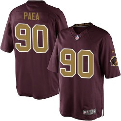 Nike Youth Elite Burgundy Red 80th Anniversary Alternate Jersey Washington Redskins Stephen Paea 90