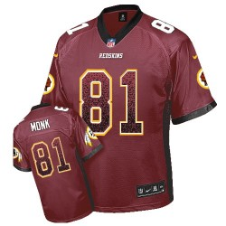 Nike Men's Game Burgundy Red Drift Fashion Jersey Washington Redskins Art Monk 81