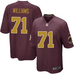Nike Youth Limited Burgundy Red 80th Anniversary Alternate Jersey Washington Redskins Trent Williams 71