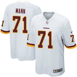 Nike Men's Game White Road Jersey Washington Redskins Charles Mann 71