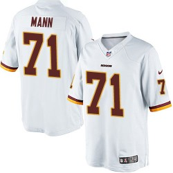 Nike Men's Limited White Road Jersey Washington Redskins Charles Mann 71